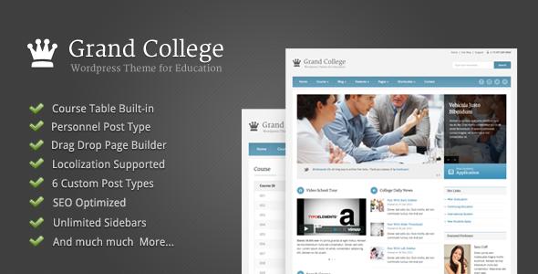Traducción del tema Grand College para Wordpress | Arzak Web ...